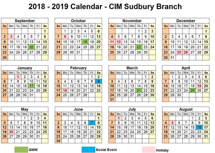 Gcc Calendar 2019 February 2019 Calendar Events